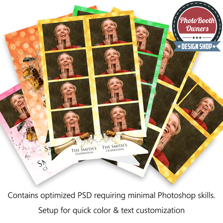 Champagne Celebration Photo Booth Templates