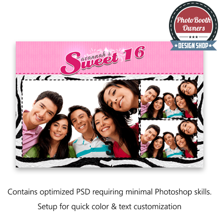 Sweet 16 Stripes Postcard