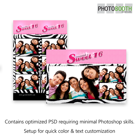 Sweet 16 Stripes Postcard