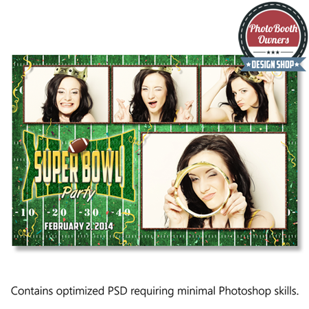 super bowl party photo booth templates postcard