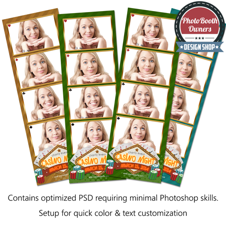 Casino Night Photo Strips
