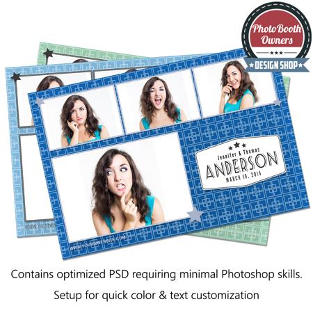 5 Squares Postcard