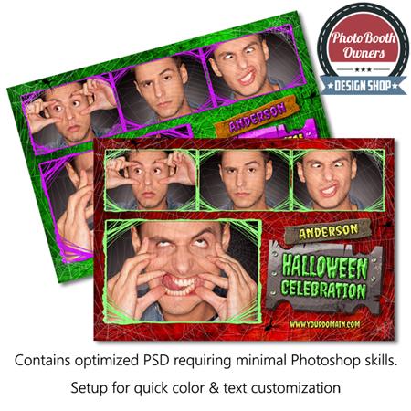 Spider Webs Spooky Halloween Postcard