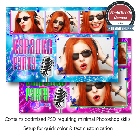 Karaoke Time Postcard