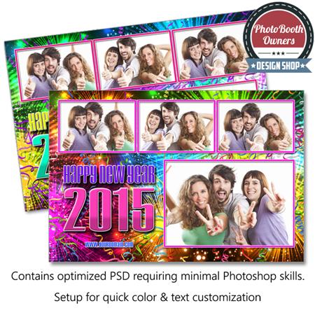 New Year Fireworks Celebration Postcard