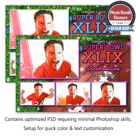 Super Football Party Postcard