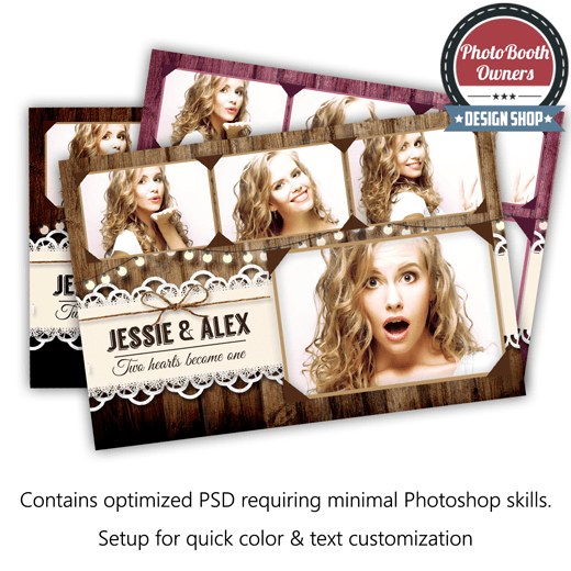 Rustic Lace Postcard Photo Booth Template