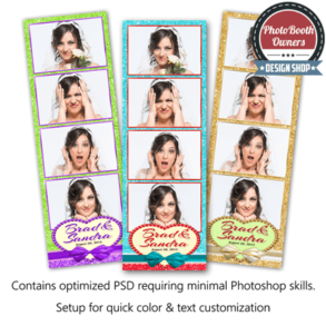 Glitter & Lace Celebration 4-up Strips