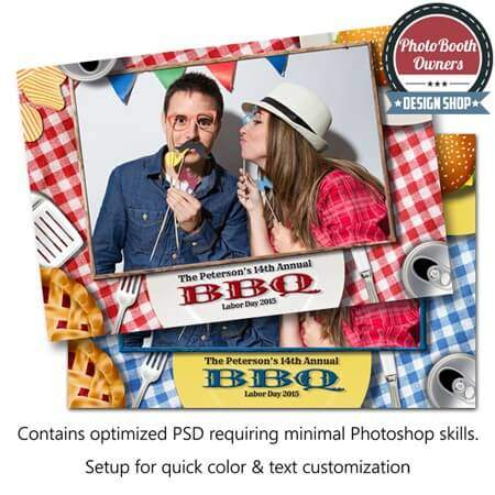 Barbeque Picnic Celebration Photo Booth Template
