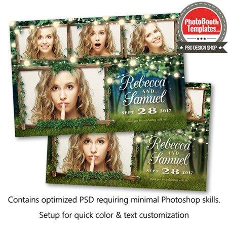 Enchanted Forest Lights Postcard