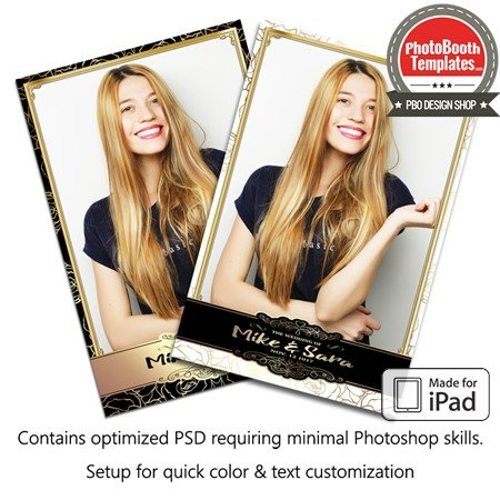 Metallic Floral Portrait (iPad)