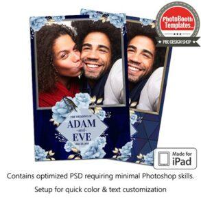 Romantic Blue Wedding Portrait (iPad)