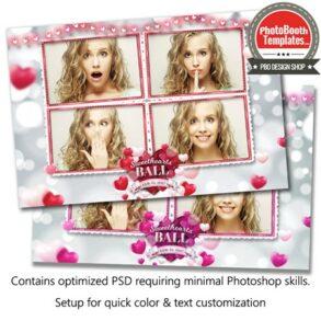 Rosy Romantic Hearts Postcard