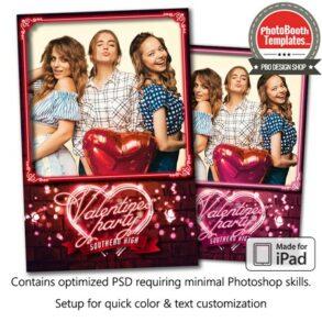 Neon Heart and Sparkles Portrait (iPad)