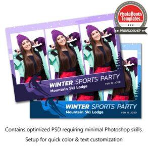 Ski Celebration Postcard