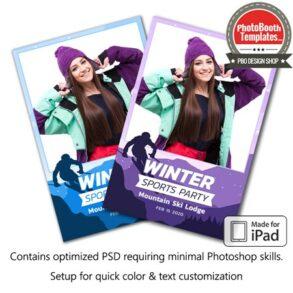 Ski Celebration Portrait (iPad)