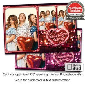 Neon Heart and Sparkles Postcard (iPad)